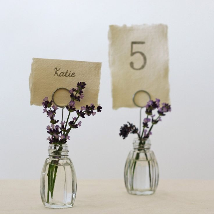 tiny bud vase wedding place card holders table number holders