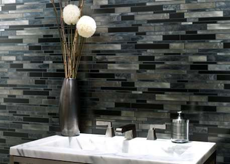 catwalk steel toe featured on the linear glass mosaics page from south cypress back splash ideas