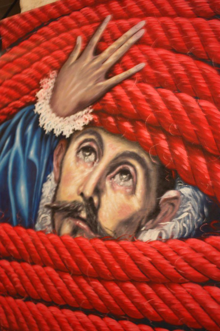 "''Facing Globalization"", Athina Latinopoulou  (Portrait of El Greco)"