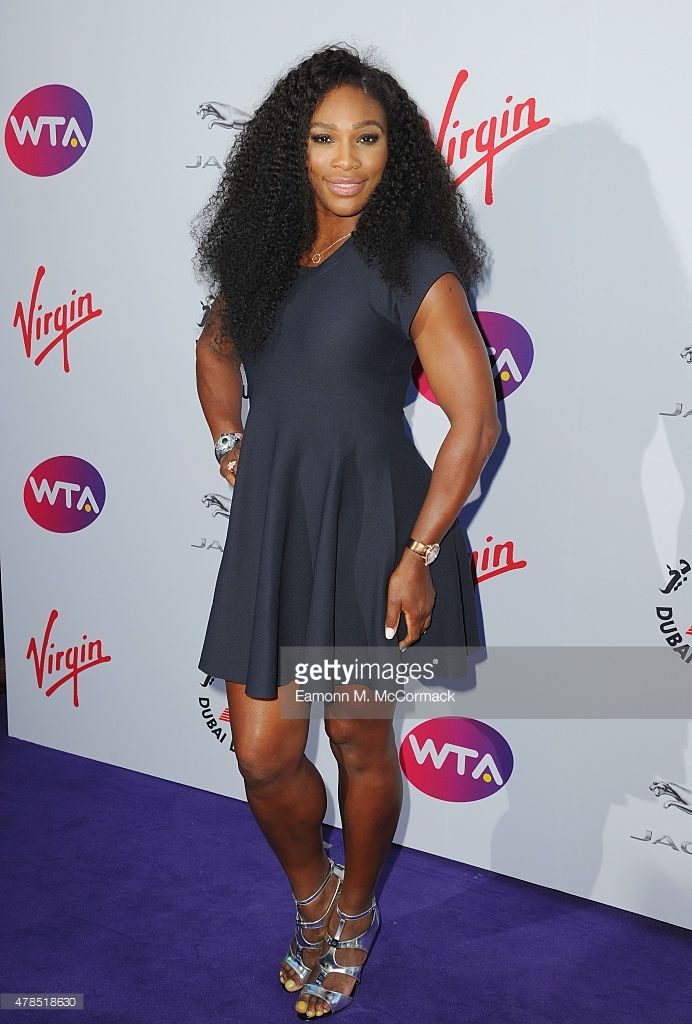 Serena Williams attends the annual WTA Pre-Wimbledon Party presented by Dubai Duty Free at The Roof Gardens, Kensington on June 25, 2015 in London, England.