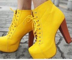yellow booties