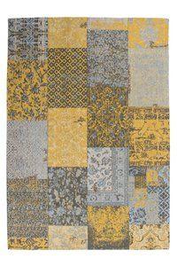 Patchwork Karpet - Vloerkleed Geel               -         vloerkleedbestellen