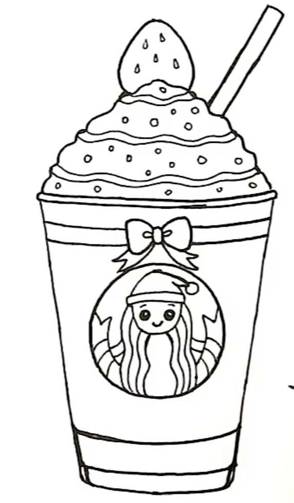 this is the best drawing of starbucks drink