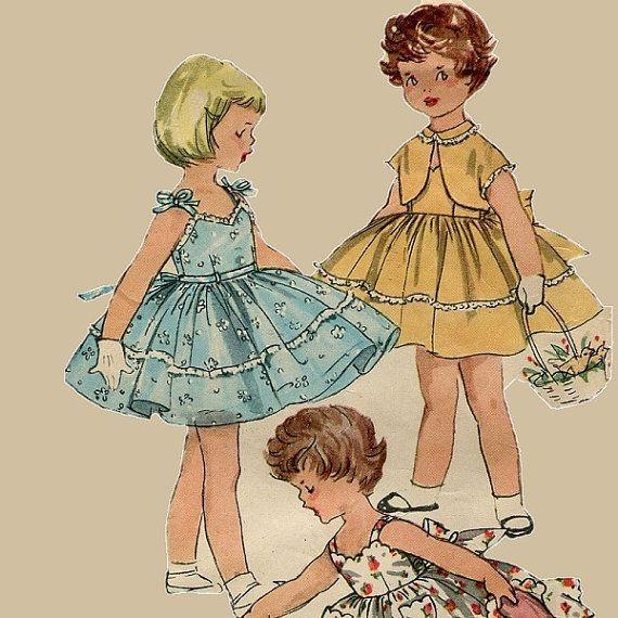 1950s Girls Sun Dress Pattern Simplicity 1149 by PengyPatterns, $10.00