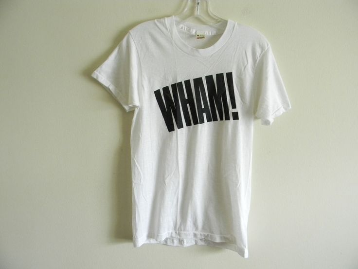 Vintage 80's Wham! t-shirt Geroge Michael Screen Stars DEADSTOCK thin