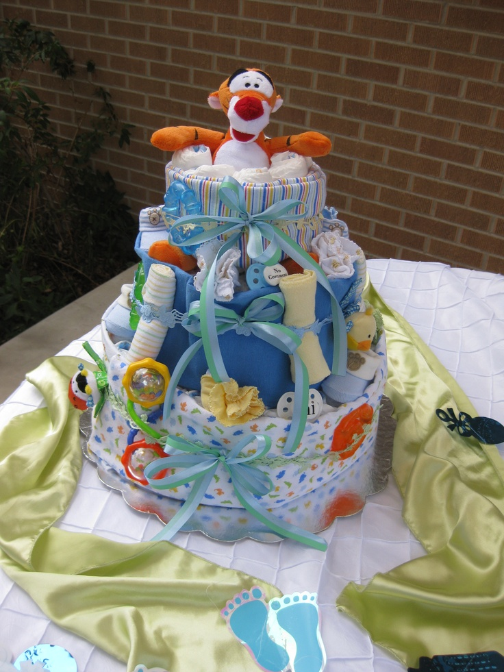 Diaper cake for boy