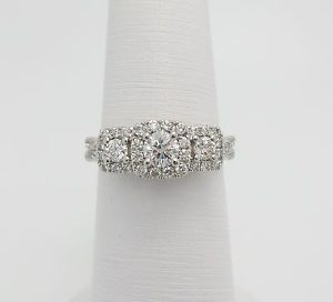 Vera Wang LOVE Collection 1CT Diamond Engagement Wedding Ring 14K White Gold   eBay