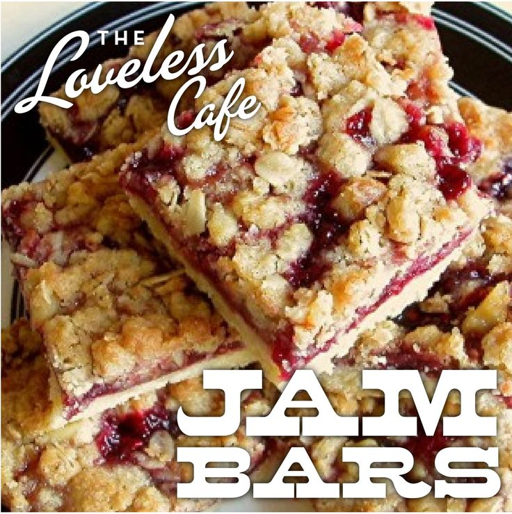 These Jam Bars from Loveless Cafe not only look delicious but easy to make!