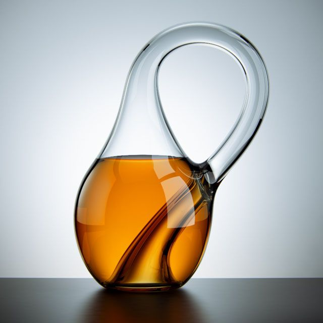 Okay, not only for wine but what an amazing design for a decanter. Can be capped with a standard cork stopper.