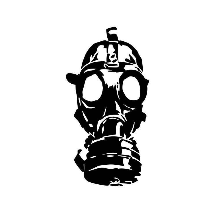 Gas Mask Zombie Graphics SVG Dxf EPS Png Cdr Ai Pdf Vector Art Clipart instant download Digital Cut Print File Cricut Silhouette by VectorartDesigns on Etsy
