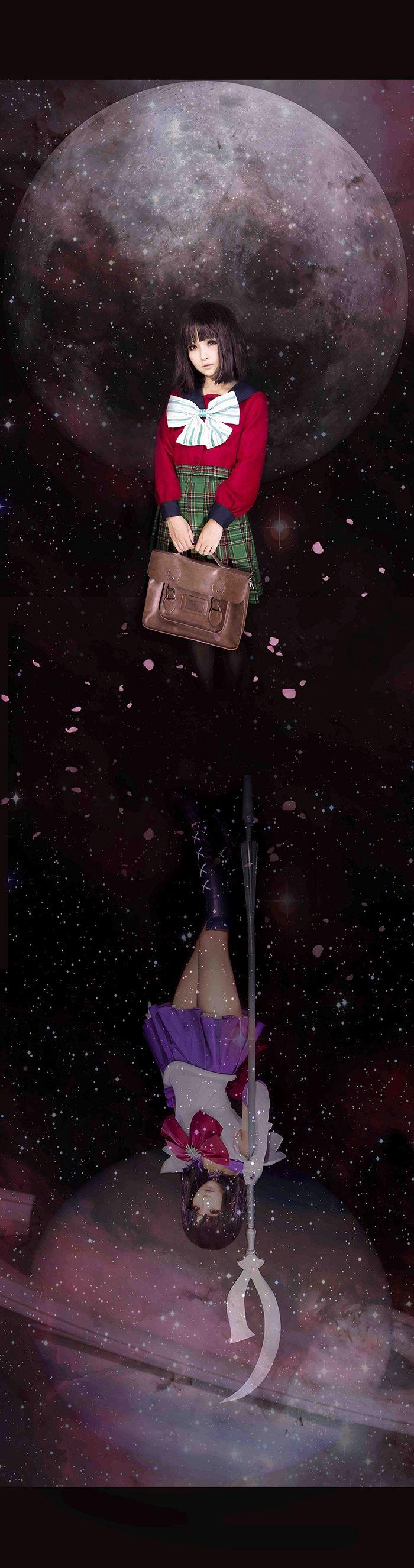 Hotaru Tomoe aka Sailor Saturn From: Sailor Moon Cosplayer: Yizumi Photographer/PShop: Unknown Source: en.CureCosplay.com