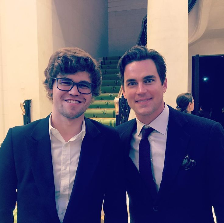 "- Matt Bomer ""Had the privilege of meeting one of the great minds of our time last night, @magnus_carlsen - the…"""