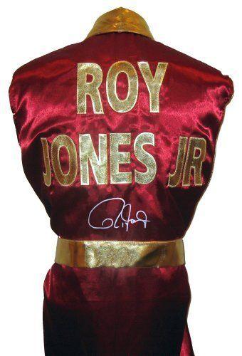"""Roy Jones Jr Signed Burgundy Robe """"ROY JONES JR"""" on back - Autographed Boxing…"""