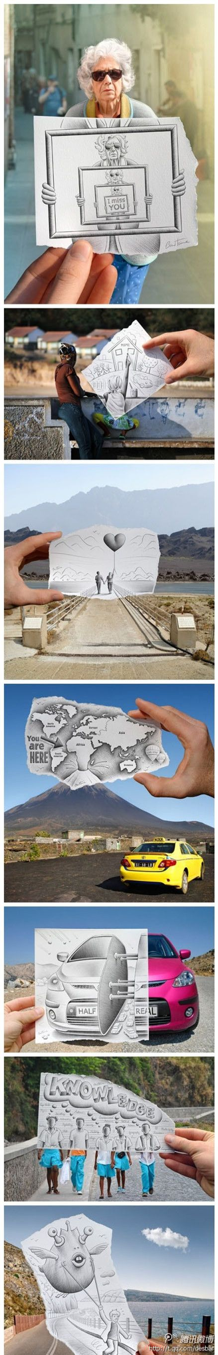 Creative camera art by Ben Heine. More images after the link jump. Great project for perspective