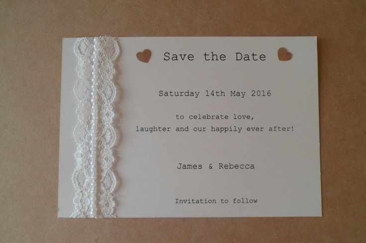 A personal favourite from my Etsy shop https://www.etsy.com/uk/listing/251475437/beautiful-pearl-lace-save-the-date-card