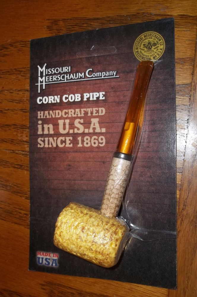 "Missouri Meerschaum ""Legend"" 5th Avenue Corn Cob Pipe Filtered Straight Stem"