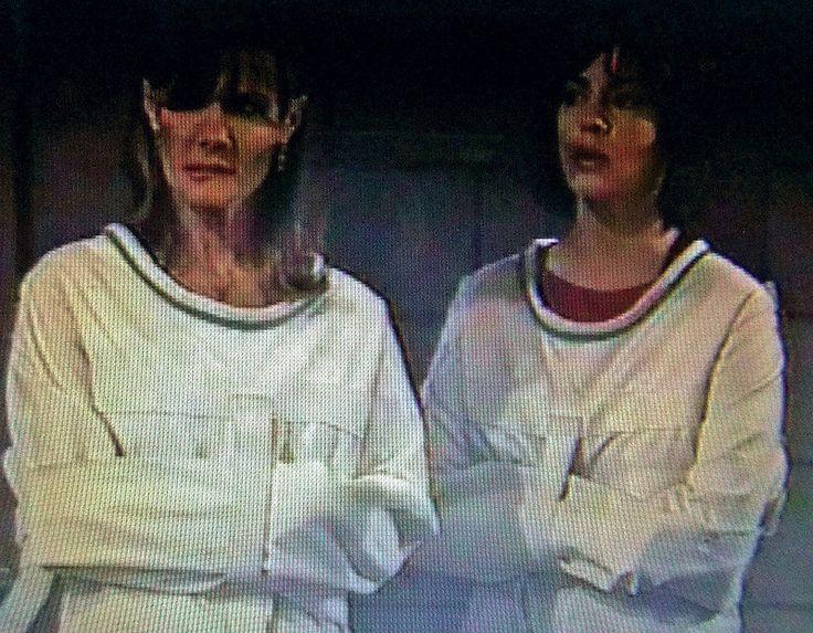 Two Women In A Posey Straitjacket In The Psychiatry,Frauen