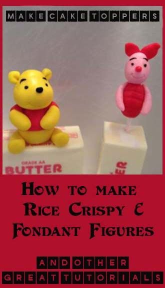 How to make Fondant and Rice Crispy Figures (and other great tutorials)