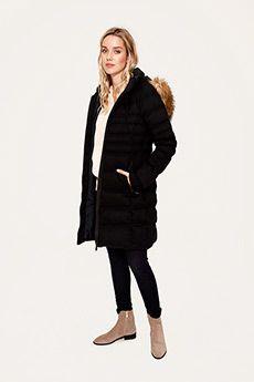 Shop Lolë's iconic KATIE JACKET #EcoFriendly #Jacket #PufferCoat #FauxFur #LoleWomen