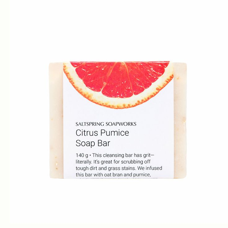 This cleansing bar has grit—literally. It's great for scrubbing off tough dirt and grass stains. We infused this bar with oat bran and pumice,which give it some tooth. This comes together with a blend of essential oils (peppermint, lavender, sweet orange,and rosemary). It moisturizes,hydrates, and is long lasting.