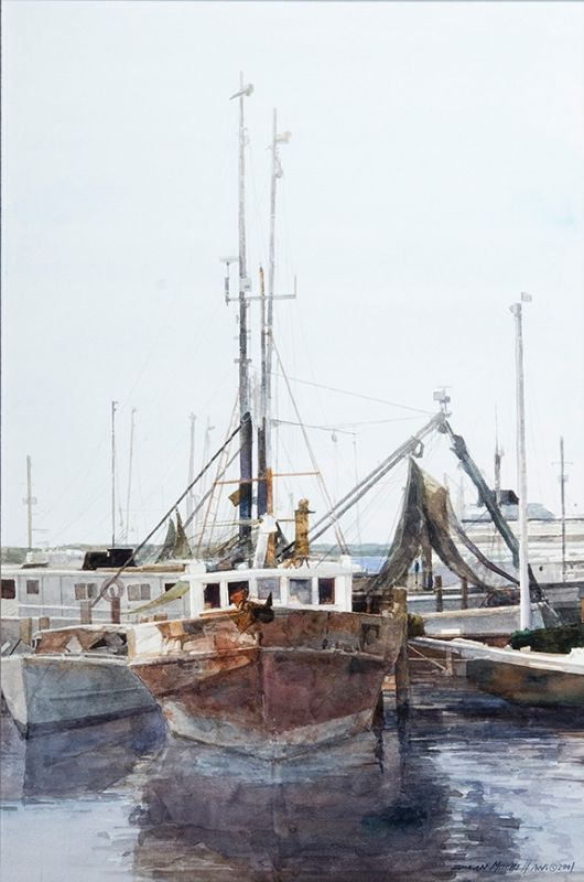 Fisherman's Boat, watercolor - Dean Mitchell