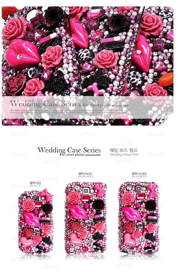 Wedding Cubic Phonecase. Style type  Wedding rose pink. 100% handmade.