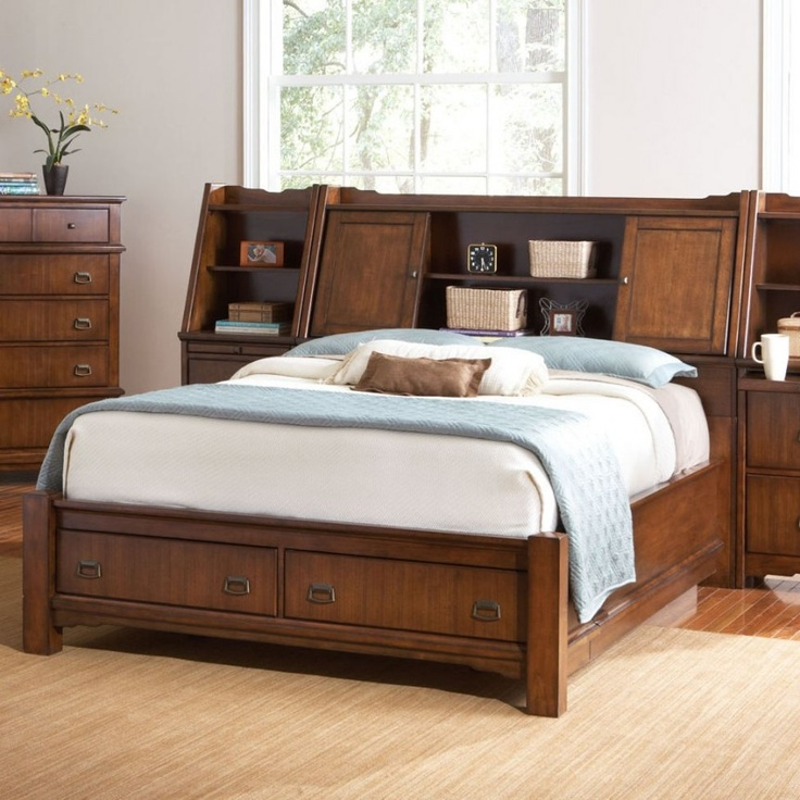 20 best for the home images on pinterest bookcase - Bookcase headboard king bedroom set ...