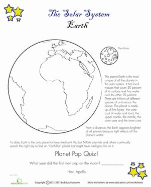 earth space science worksheets - photo #11