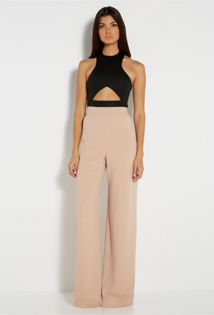 AQ/AQ Percy Black Wide Leg Trousers with Front Pleats