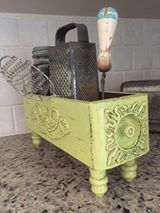 Lynn Johnson painted this cute storage box with Limeade and the New & Improved Black Wax.