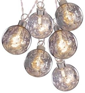 http://www.houzz.com/photos/2186060/Clear-Battery-Operated-Silver-Glass-Ball-String-Lights-White-Wire-contemporary-outdoor-holiday-decorations