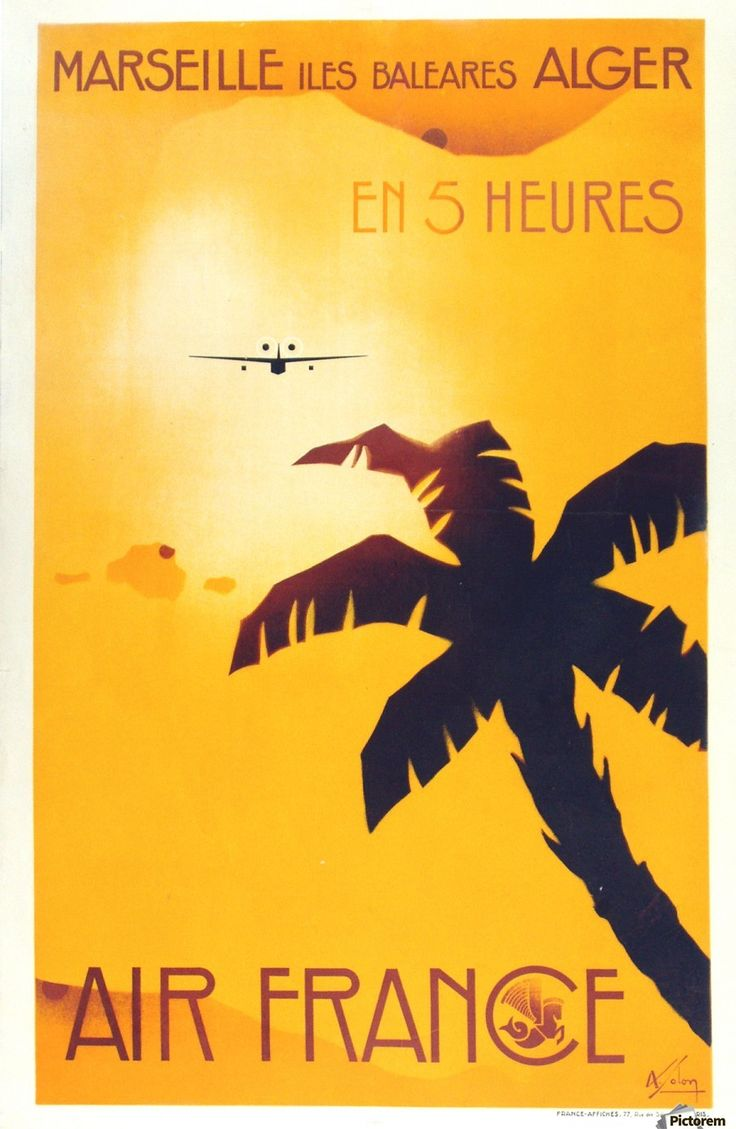 Air France Marseille Poster Canvas Print