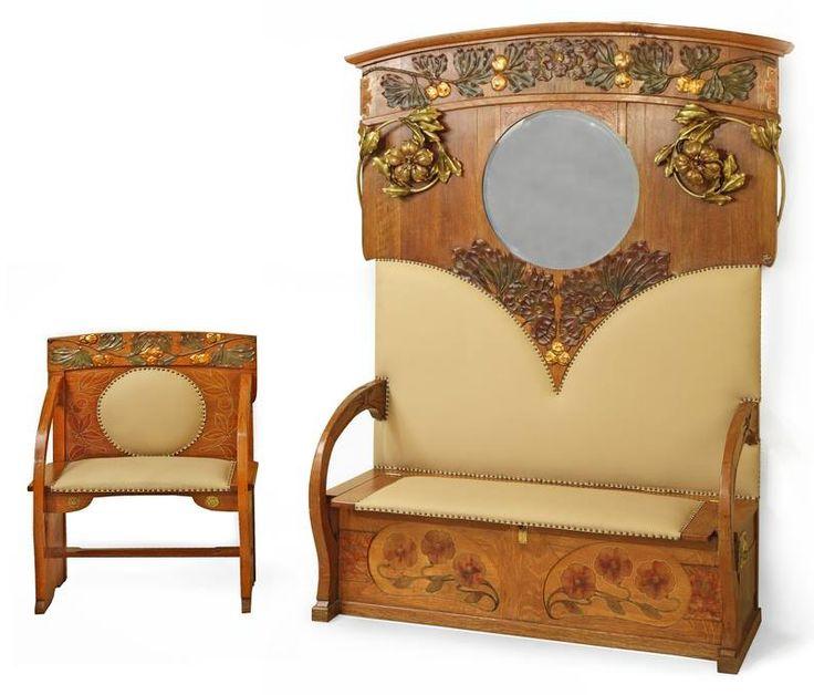 les 135 meilleures images du tableau art nouveau mobilier sur pinterest art nouveau. Black Bedroom Furniture Sets. Home Design Ideas