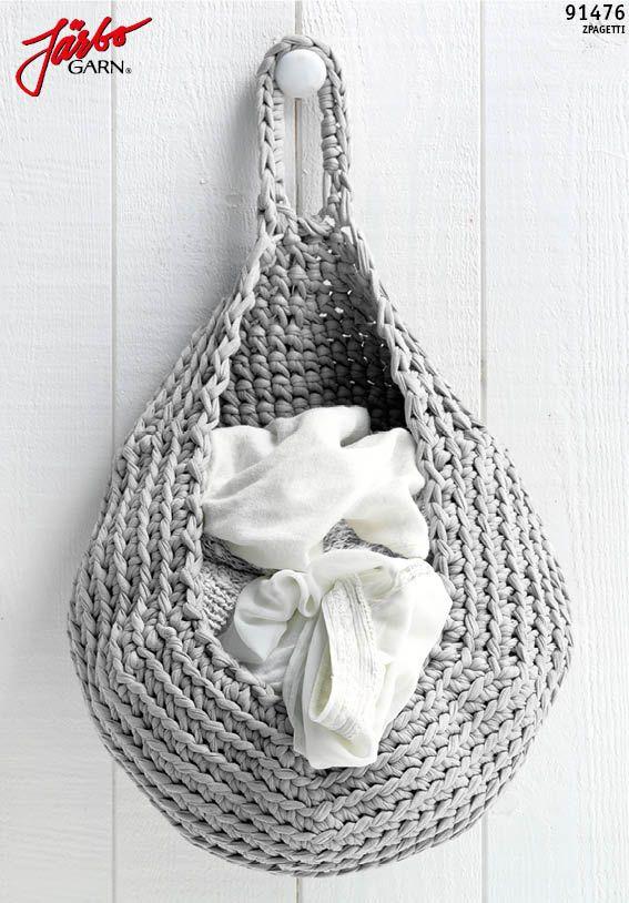 Beautiful crochet storage bag.