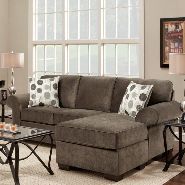 """Welcome to the Cleo! This sofa/chaise brings both style and comfort to your home seating area/living room. Offered in a gorgeous gray """"ash"""" tone with decorative throw pillows to add bright design elements, this sofa with chaise provides numerous decorating options/decor choices. This sofa/chaise is built with """"pride and quality"""". The all hardwood frame construction, rolled-arms and durable soft high quality fabric (poly-blend) enables you to buy this product with confidenc..."""