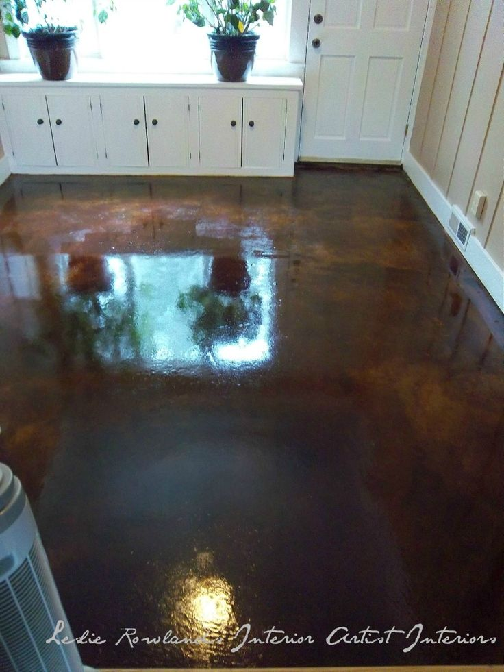 Cola acid washed concrete floor for the home pinterest for Acid wash concrete floors