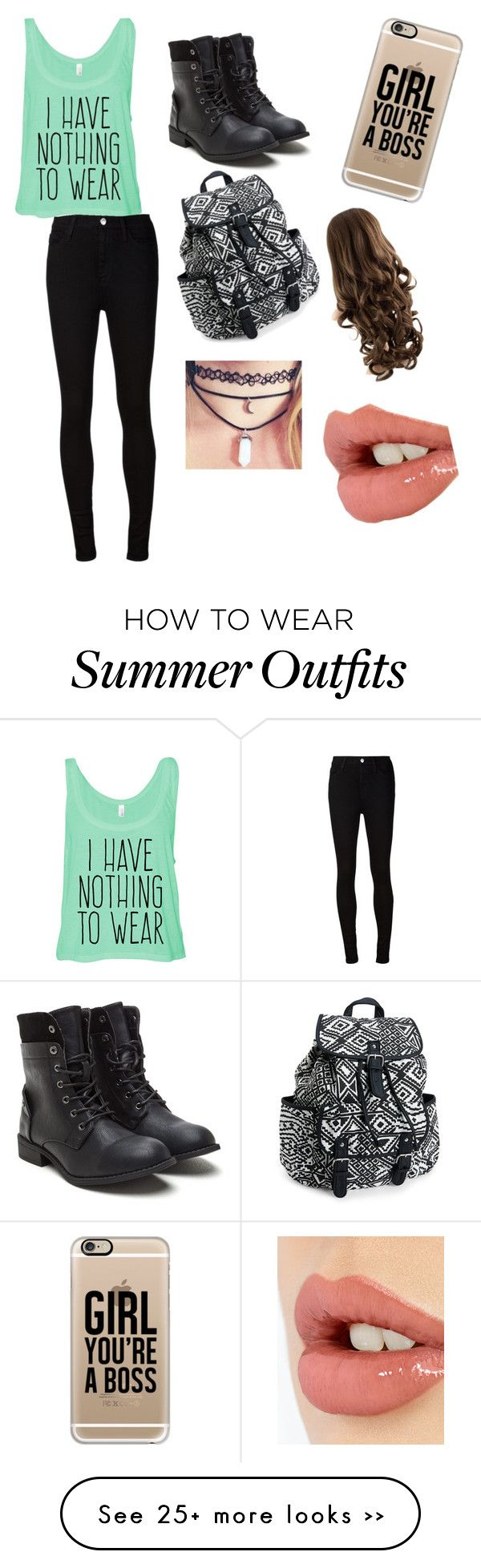 """Untitled #36"" by valalcala on Polyvore featuring moda, AG Adriano Goldschmied, Aéropostale, Casetify y Charlotte Tilbury"
