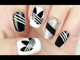 I feel like Adidas is everywhere lately so I wanted to try out a nail design ins…