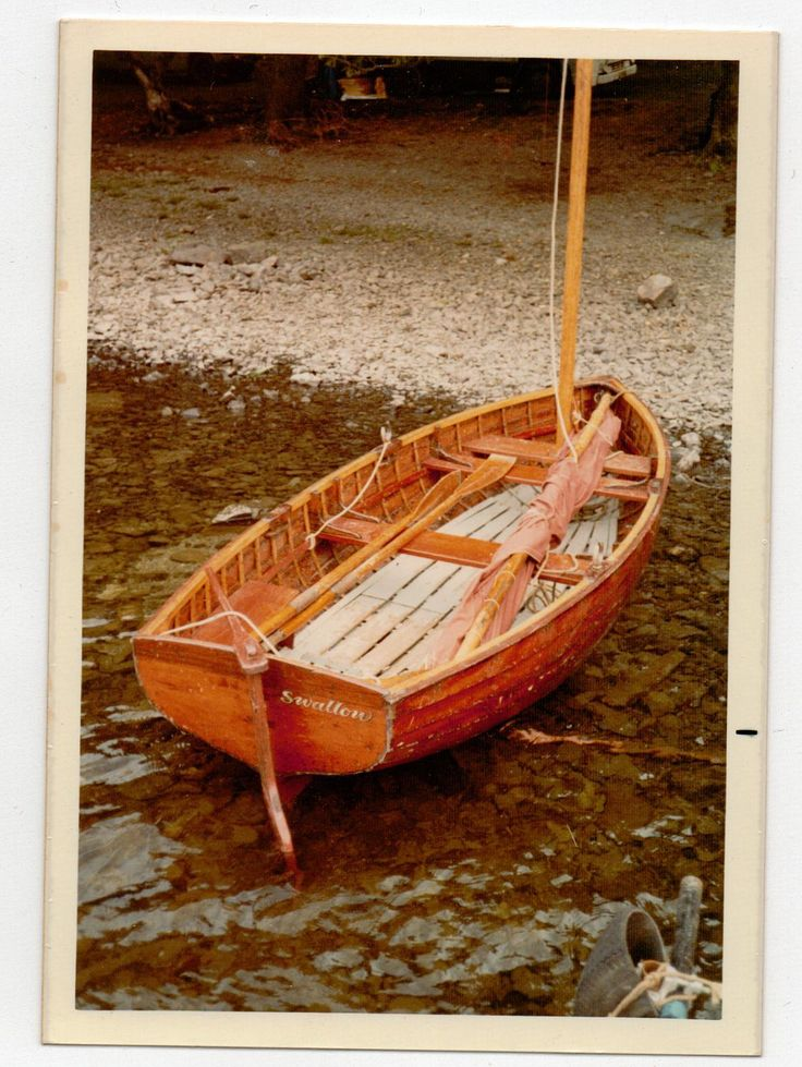 The dinghy 'Swallow' that featured in the film Swallows and Amazons