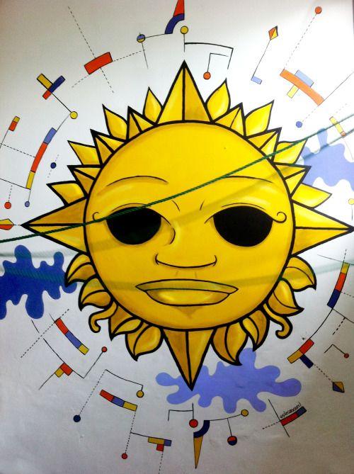 Segundo mural, SOL para Espacio http://www.benavente95.cl/ Santiago, Chile. Enero 2016