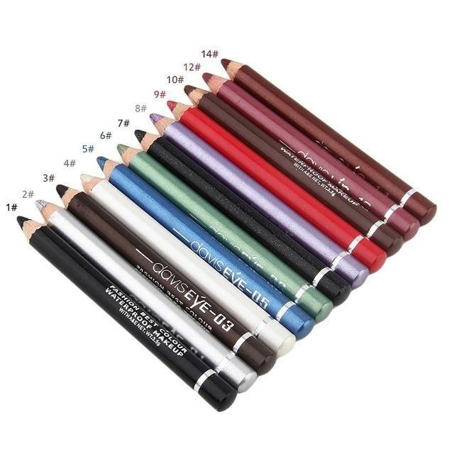 New 12 Colors Personal Eye Make Up Eyeliner Pencil Long-Lasting Waterproof (w/ sharpener)