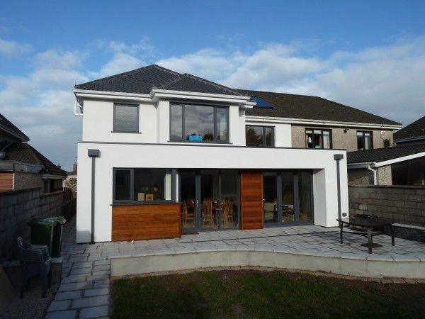 """The timber cladding adds to the extension - but still not keen on the """"garage"""" look."""