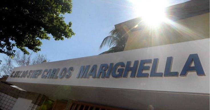 Fachada de escola que mudou nome para Carlos Marighella é inaugurada