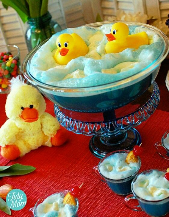 Super cute punch bowl for a little boy baby shower!