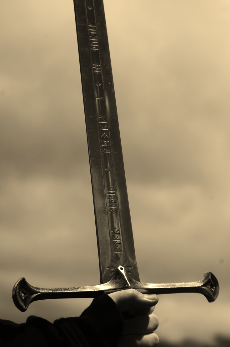 Christchurch, Aragorn's (from LOTR) sword, actually quite heavy!!!