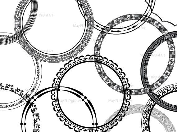 vintage clip art circle - photo #35