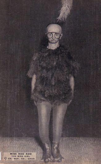 kookoo the bird girl human oddity freak