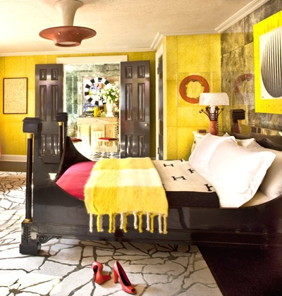 51 best images about bedroom on pinterest bright bedroom for Bright yellow bedroom ideas