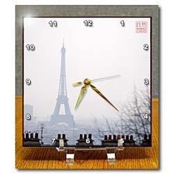 Amazon.com: Silhueta da Torre Eiffel monumento, Paris, França - 6x6 Desk Clock: Casa e Cozinha