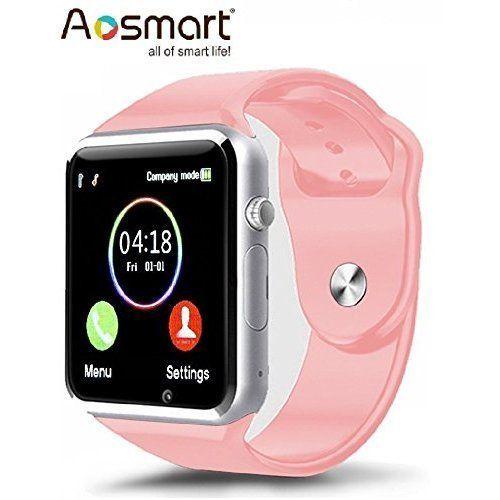 Bluetooth Smart Wrist Watch For Phone Camera Pedometer Sleep Tracker Pink NEW #SmartWatchiOSAndroid